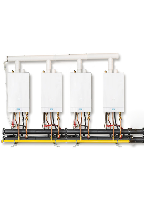 wall hung high power boilers cascade/time power